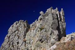 Montagnes de la Corse, journal GR20 Images libres de droits