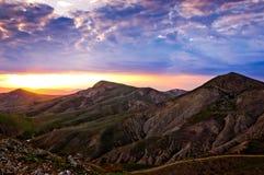 Montagnes de la Crimée images libres de droits