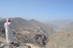 Montagnes de la péninsule de Musandam Photographie stock libre de droits