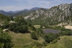 Montagnes de la Provence de panorama Images libres de droits