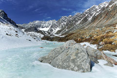 Montagnes de la Sibérie Photographie stock