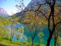 montagnes de lac Images stock