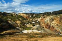 Montagnes de Landmannalaugar, Islande Image stock