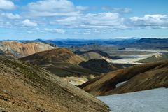 Montagnes de Landmannalaugar, Islande Images libres de droits