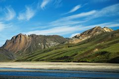 Montagnes de Landmannalaugar, Islande Photos stock