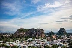 Montagnes de marbre à Da Nang image libre de droits