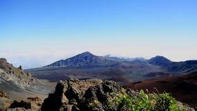 Montagnes de Maui de sommet de Haleakala banque de vidéos