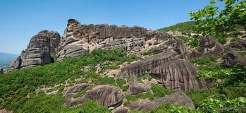 Montagnes de Meteora en Grèce Photographie stock libre de droits