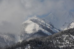 Montagnes de Milou en hiver Photos libres de droits