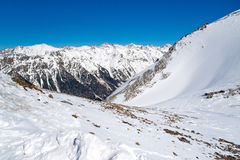Montagnes de Milou l'hiver Photographie stock