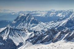Montagnes de Milou Mieminger et de Wetterstein en l'Allemagne/Autriche photo stock