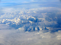 Montagnes de Milou Pyrénées d'Espagnol comme vu du ciel Photographie stock libre de droits