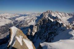 Montagnes de Mont Blanc Photographie stock libre de droits