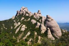 Montagnes de Montserrat en été catalonia Image stock