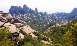 Montagnes de Montserrat en Catalogne Photo stock