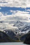 Montagnes de Mooserboden au-dessus de Kaprun images stock
