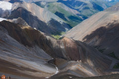 Montagnes de Motley Photo libre de droits