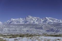 Montagnes de neige Photos stock