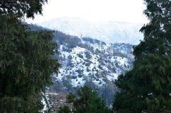 Montagnes de neige Images libres de droits