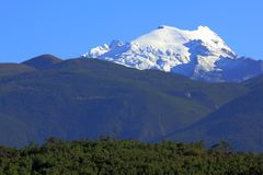 Montagnes de neige de Haba Photo stock
