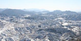 Montagnes de neige en Chine Photographie stock