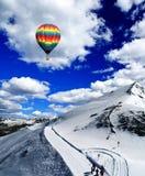 Montagnes de neige en Suisse Photo libre de droits