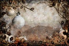 Montagnes de Noël Photo stock