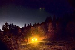Montagnes de nuit Photo stock