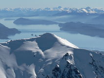 Montagnes de Patagonia photo stock