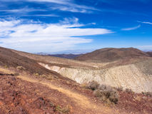 Montagnes de paysage en parc national de Death Valley Images stock