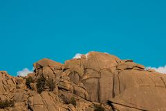 Montagnes de Pedriza en sierra De Guadarrama, Madrid Espagne mounta Image libre de droits
