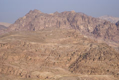Montagnes de PETRA dans la lumière de lever de soleil, Jordanie du sud Photo libre de droits