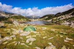 Montagnes de Pirin en été Images stock