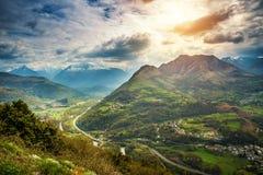 Montagnes de Pyrénées photo libre de droits
