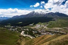Montagnes de Qilan Images libres de droits