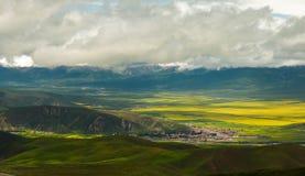Montagnes de Qilian Photographie stock