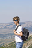 montagnes de randonneur Photos stock