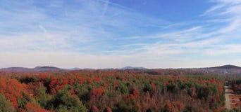Montagnes de Ridge bleu en automne Photos libres de droits
