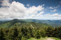 Montagnes de Ridge bleu Mt Mitchell OR occidental Images libres de droits