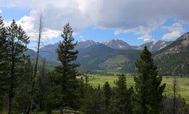 Montagnes de Rocky Mountain National Park images libres de droits