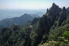 Montagnes de Sanqingshan Photographie stock