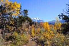Montagnes de sel de La dans l'automne photographie stock libre de droits