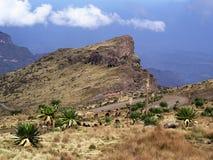 Montagnes de Simien près de passage de Bwahit Photographie stock libre de droits
