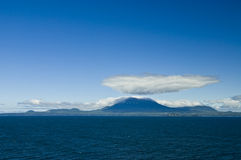 Montagnes de Sitka Alaska Photographie stock