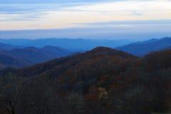 Montagnes de Smokey après coucher du soleil Photographie stock libre de droits