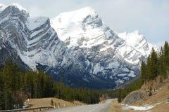 montagnes de source à kananaskis Photographie stock libre de droits
