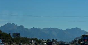 Montagnes de superstition dans le MESA, Arizona Photos libres de droits