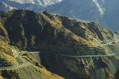 Montagnes de Taif en Arabie Saoudite Photos stock