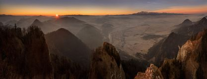 Montagnes de Tatra de Pieniny images libres de droits