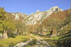 Montagnes de Trascou Photo stock